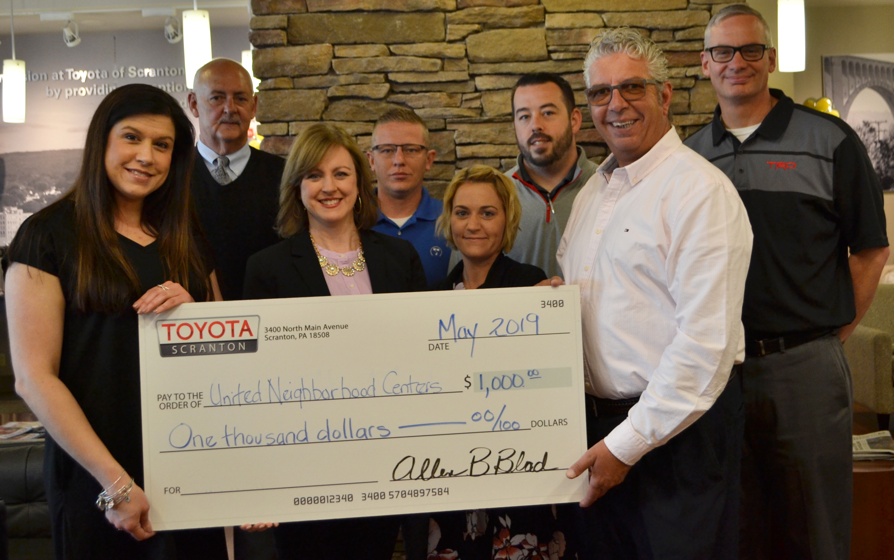 UNC accepts sponsorship for Farm to Form from Toyota of Scranton